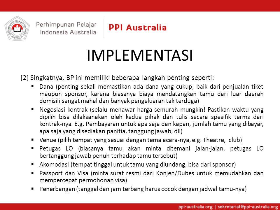 IMPLEMENTASI [2] Singkatnya, BP ini memiliki beberapa langkah penting seperti: